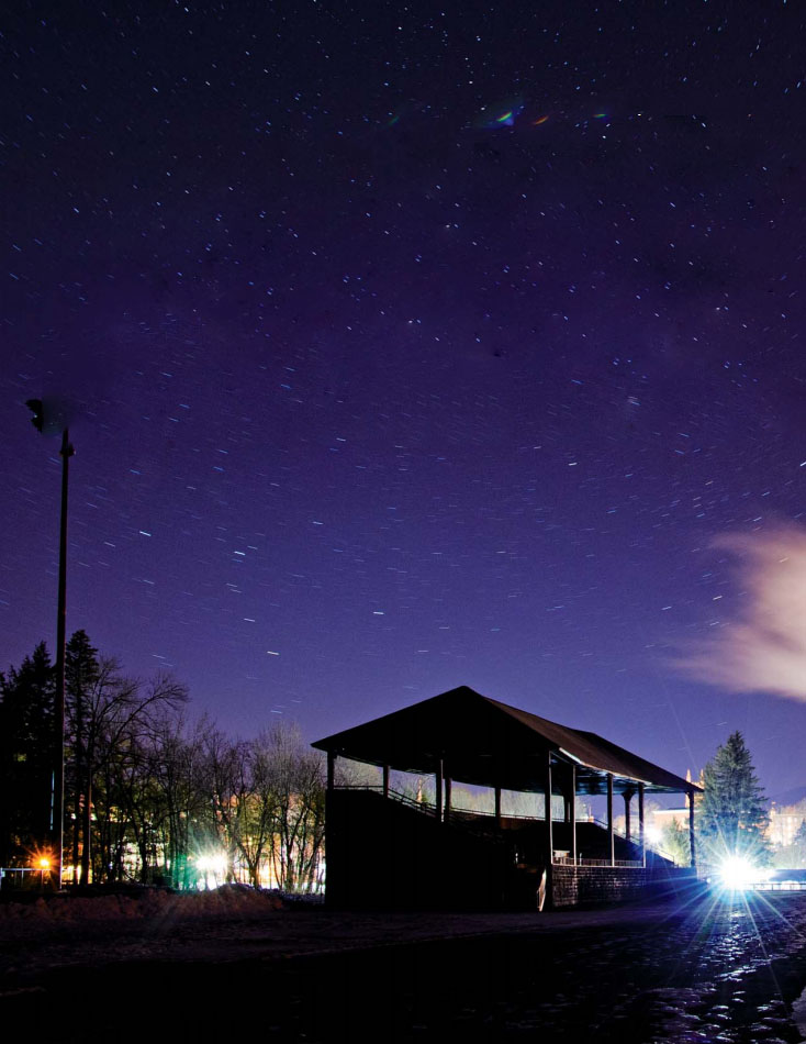 Stars over Peck Grandstand