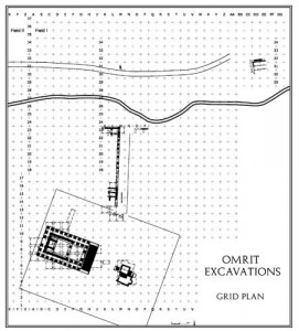 Omrit excavation grid plan
