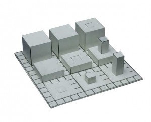 Series ABCD (small model) by Sol LeWitt