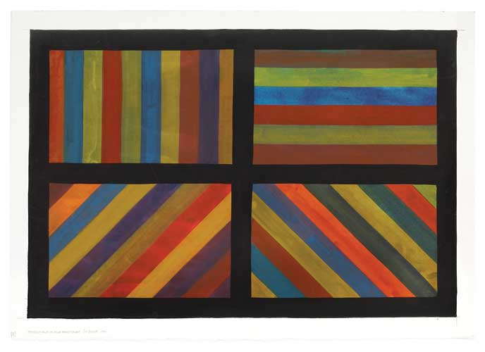 Bands of Color in Four Directions by Sol LeWitt
