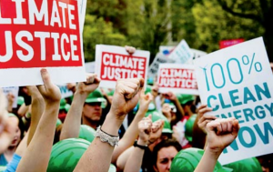 Demonstrators outside the White House protest against British Petroleum in April.