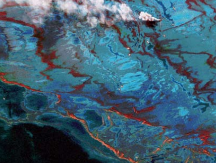 A total of 4.9 million barrels of crude oil flowed into the Gulf of Mexico over the course of three months after the April 2010 explosion of British Petroleum's Deepwater Horizon.