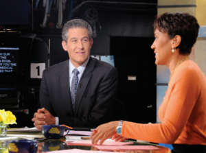 Besser during an appearance on Good Morning America with anchor Robin Roberts