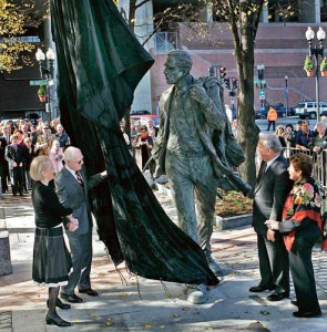 Nov. 1, 2006. The city unveils a statue of White outside Faneuil Hall.