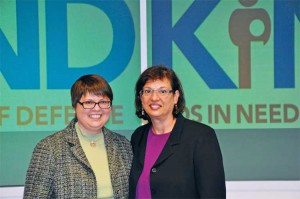 From left: KIND founding executive director Wendy Young '83 (left) and journalist/advocate Sonia Nazario '82.