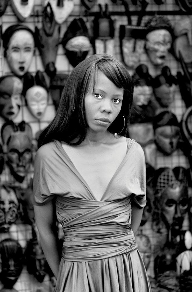 Zanele Muholi (South African, b. 1972), Kekelesto Khena, Green Market Square, Cape Town, 2012, Silver Gelatin Print. © ZANELE MUHOLI. Courtesy of STEVENSON Cape Town and Johnannesburg.