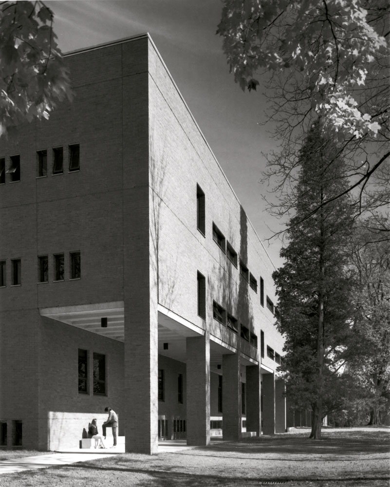 Sawyer Library exterior (ca. 1976)