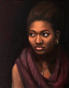 Myya; 2014;  oil on canvas;  20 x 16 in.