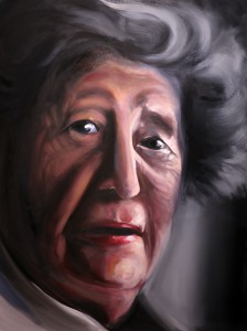 Erika; 2014; oil on canvas;  36 x 48 in.