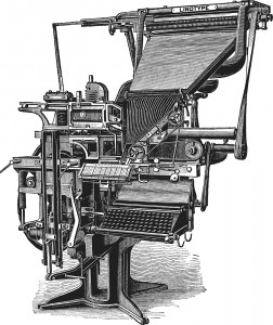 1884 The Linotype machine, invented by Otto Mergenthaler, produced an entire line of metal type at once, greatly expediting the arduous process of composing and setting type by hand. It became the standard mode of typesetting for newspapers, magazines and books.
