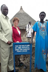 Dina Esposito (second from left), director, USAID Office of Food for Peace