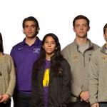 Athlete-Driven Initiative Against Sexual Assault (from left): Zander Masucci '16, Andree Heller '15, John Maimone-Medwick '15, Dianna Mejia '15 & Dan Whittam '15 (co-presidents), Steven Keisel '15, Becca Bell '15