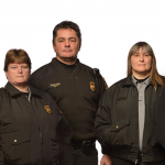 Campus Safety and Security (from left): Tony Sinico, Associate Director; Alison Warner, Security Patrol Supervisor; Shaun Lennon, Operations Supervisor; Susan Monroe, Officer; David Boyer, Director