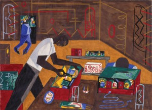 Jacob Lawrence (American, 1917-2000). Radio Repairs, 1946. Gouache on paper, overall: 231/16 x 313/16 in. (58.6 x 79.2 cm). Anonymous gift, M.2003.31. ©2015 The Jacob and Gwendolyn Knight Lawrence Foundation, Seattle/Artists Rights Society (ARS), New York.