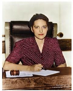 The Hon. Jane Bolin, Gaius' daughter, in 1942