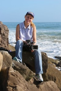 Portrait of Karin Muller near the beach in California