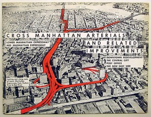Image of Manhattan showing the plan to ease congestion that would have displaced families.