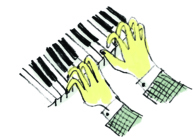 Illustration of fingers playing the piano.