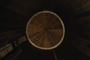 Detail shot from the inside of a silo.