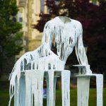 Shot of installation piece by Diana Al Hadid