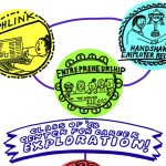 Detail of graphic illustration representing various programs offered by the 68 Center for Career Exploration