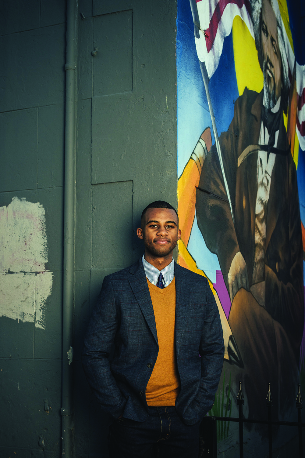 Portrait of Dig Deep founder Jaelon Moaney in Washington, D.C.