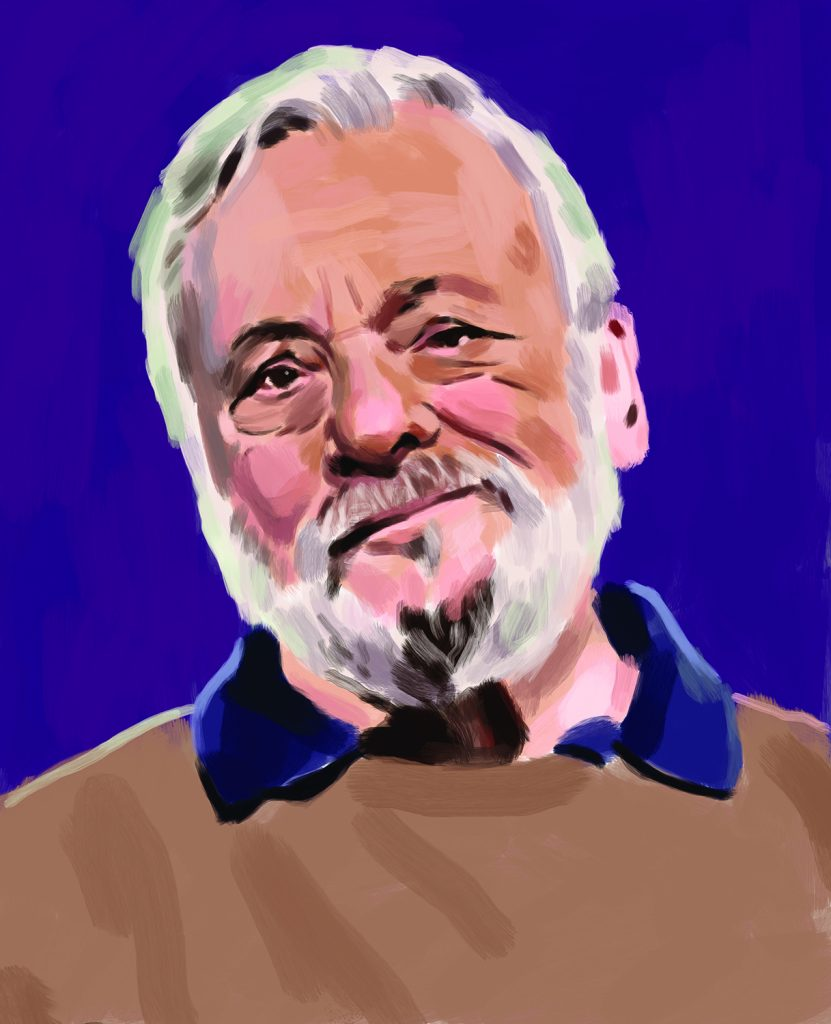 Illustration of Stephen Sondheim