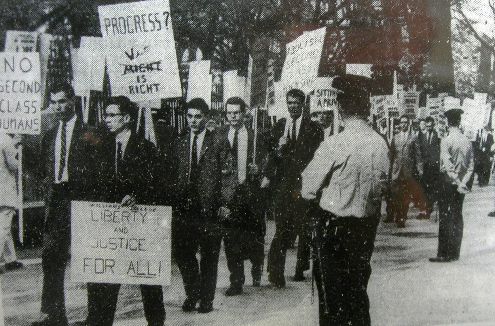 protesters at a civil rights march