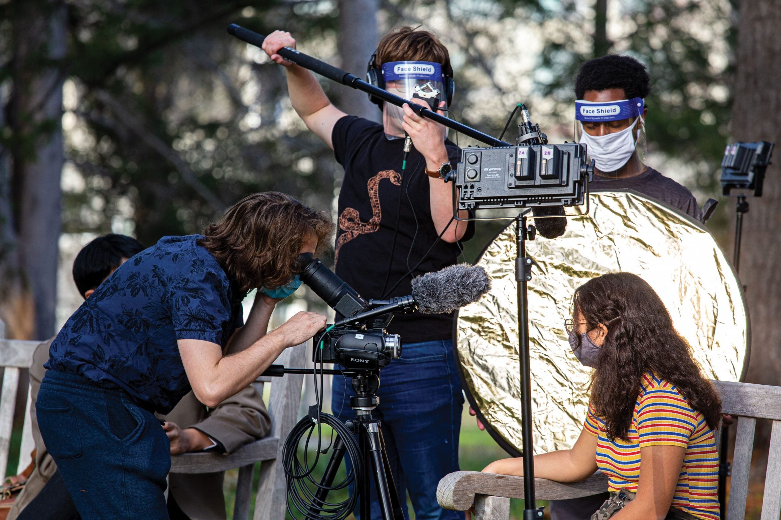 A November shoot  for a cosmic horror  short film directed  by John Murphy '21  for his honors theater degree.