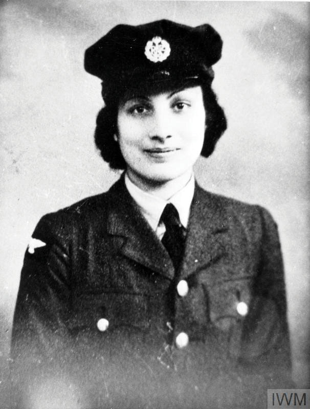 Noor Inayat Khan of the Women's Auxiliary Air Force, before she was recruited in 1942 to join the SOE as a radio operator. Photograph © Imperial War Museums.